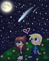 A starry night - edited by LunarStarwhisper