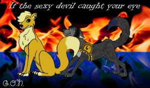 If the sexy devil caught your eye - COLORED by GuardianOfNightmares