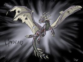 Undead Dragon by WhiteEmberShard