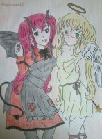 Sweet devil and Britannia Angel by Veneziano58