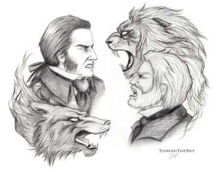 Les Miserables Confrontation by ThreshTheSky