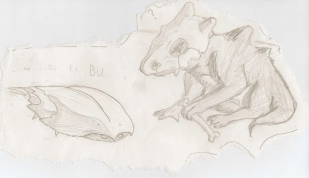 cubone and kabuto by AngelSux