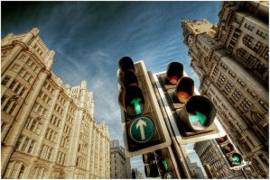 At the lights by petemc