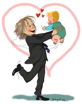 Rumple and his son by retrogrlfan
