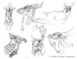Qilin Sketches Part 4 by soulofwinter