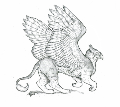 Striped gryphon by QuicksilverCat