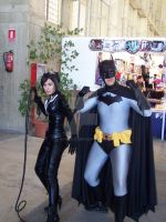 Catwoman y Batman by IanCholo
