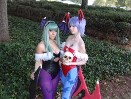 Darkstalkers succubi sisters by frenchraph