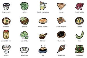 Lebanese food icons - PC by Majnouna