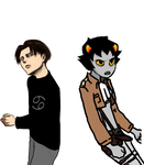 Levi and Karkat? by Lord-Stormaggeddon