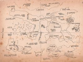 Loonatic's World Map by ZiBaricon