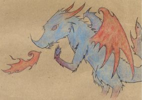 dragon-frost and flame colour by that-firey-cat