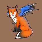 x. Another Fox + Wings by Atashka