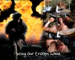 Bring Our Troops Home... by DJCgHost