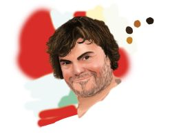 Jack Black painting WIP by SUNNY-3D-RAMM