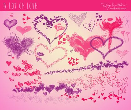 Photoshop brush: A lot of love by Rogerdatter