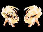Flareon- Outline VS No Outline by ToygerCat