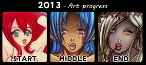 2013- Art Progress by Queen-Soulia