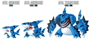 Fakemon: A007 - A009 - Alternate Water Starter by MTC-Studios