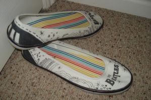 Black and white Beatles shoes by beccaecka