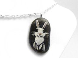 White Rabbit Pendant Necklace by sobeyondthis
