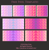 The 4 Elements - Pixel Templates by JuicyZone