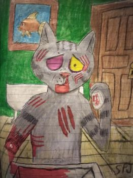 Fritz the cat bleeding by Romethehybrid
