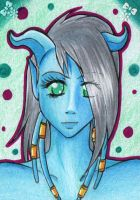 ACEO #065 - Draenei-Lady by Elythe