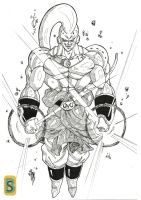 Buu Broly by bloodsplach
