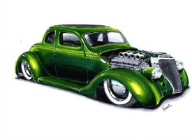 Ford Coupe 36 Hot rod by vsdesign69