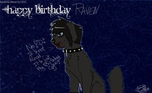 Happy birthday Raven by Kesshite-Shinso