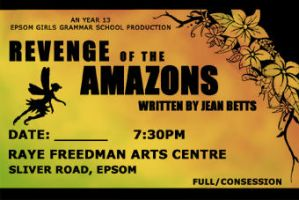 Revenge of the Amazons ticket by Ice-222