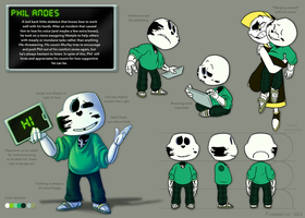Phil Andes Reference Sheet by Piranhartist