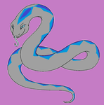 Coiler the Silver Serpent by SassyDragon18