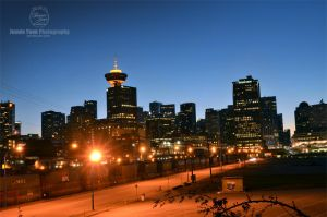 Downtown Vancouver Cityscape Lights by sweetcivic