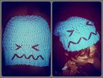 Crochet Pokemon Wobbuffet Slouch Hat by KatieKuguar