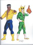 Power Man and Iron Fist by AWRowland