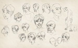 Face Sketches by eddythedreamer