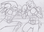 Knuckles VS BigMacintosh by sonigoku
