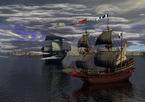 HMS William - Flying Dutchman by Sazzart1