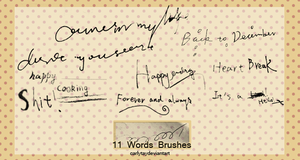 Words Brushes by Carlytay