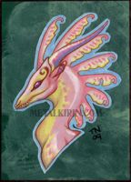 Dragon ACEO study by thedancingemu