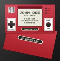 Retro Gamer Business Card by nexion218