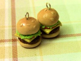 Hamburger Charms by Jellyfishcharms