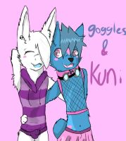 Kuni and Goggles by GogglesTheHusky