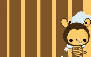 Wallpaper cute bee by Pinbu