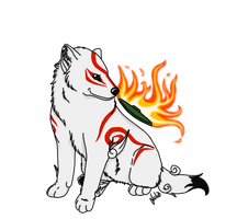 lil Okami wolf by BlackWolfTala