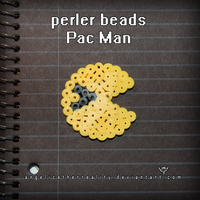 Perler Beads Pac Man by angelicetherreality