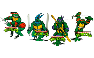 TMNT Book Covers Wallpaper by FistfulOfYoshi