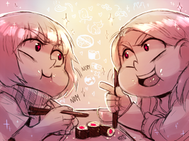 All your Sushi are belong to us by Aishishi